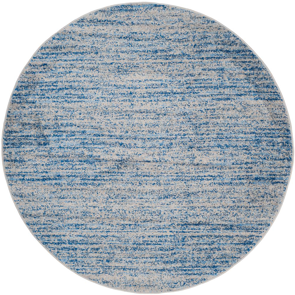 Blue And White Circle Rug: Safavieh Adirondack Blue/Silver 6 Ft. X 6 Ft. Round Area