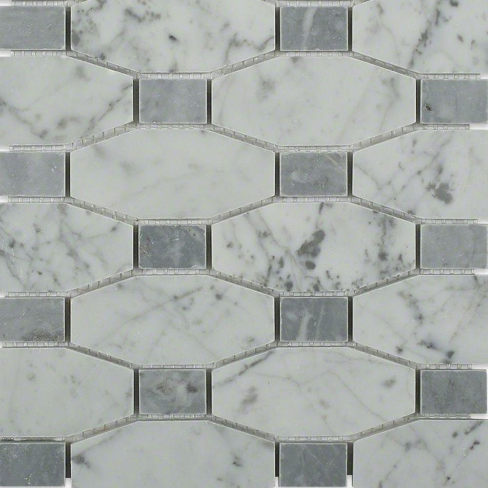 Splashback tile diapson white carrera with light bardiglio dot 10 splashback tile diapson white carrera with light bardiglio dot 10 in x 10 in x 10 mm polished marble mosaic tile diacrbrdt the home depot dailygadgetfo Gallery
