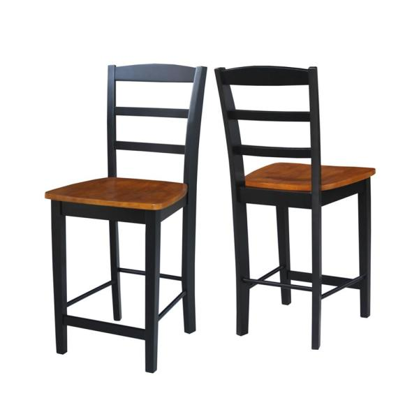 International Concepts Laurel 3 Piece Black And Cherry 42 In Gathering Dropleaf Table And Madrid Stool Dining Set K57 42dpt S402 2 The Home Depot