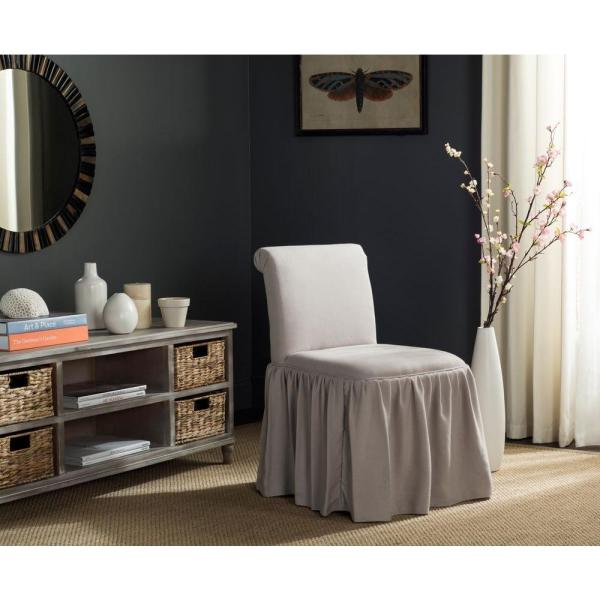 Safavieh Taupe Linen Vanity Chair