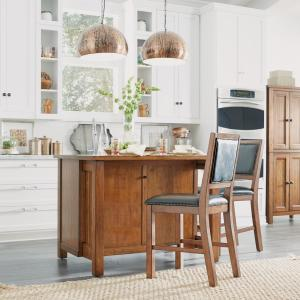 Home Styles Tahoe Aged Maple Kitchen Island with Wood Top ...