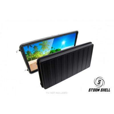 Waterproof Impact Resistant Outdoor Hard Shell TV Cover with TV Wall Mount  Bracket