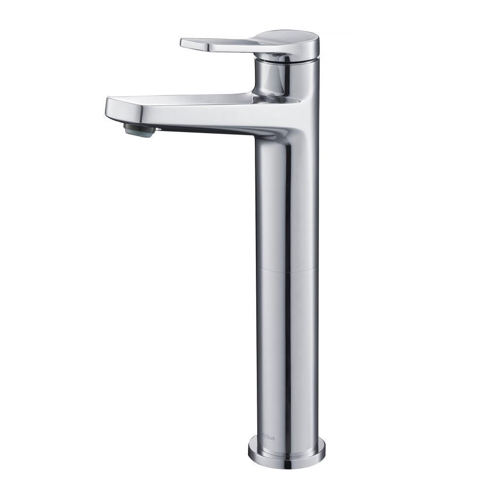 Indy Single Hole Single-Handle Vessel Bathroom Faucet in Chrome
