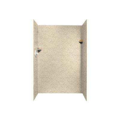 36 in. x 48 in. x 72 in. 3-Piece Easy Up Adhesive Alcove Shower Surround in Tahiti Desert