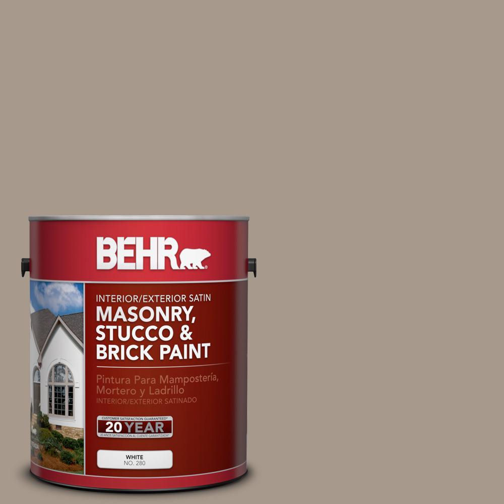 1 gal. #BXC-10 Warm Stone Satin Interior/Exterior Masonry, Stucco and Brick Paint