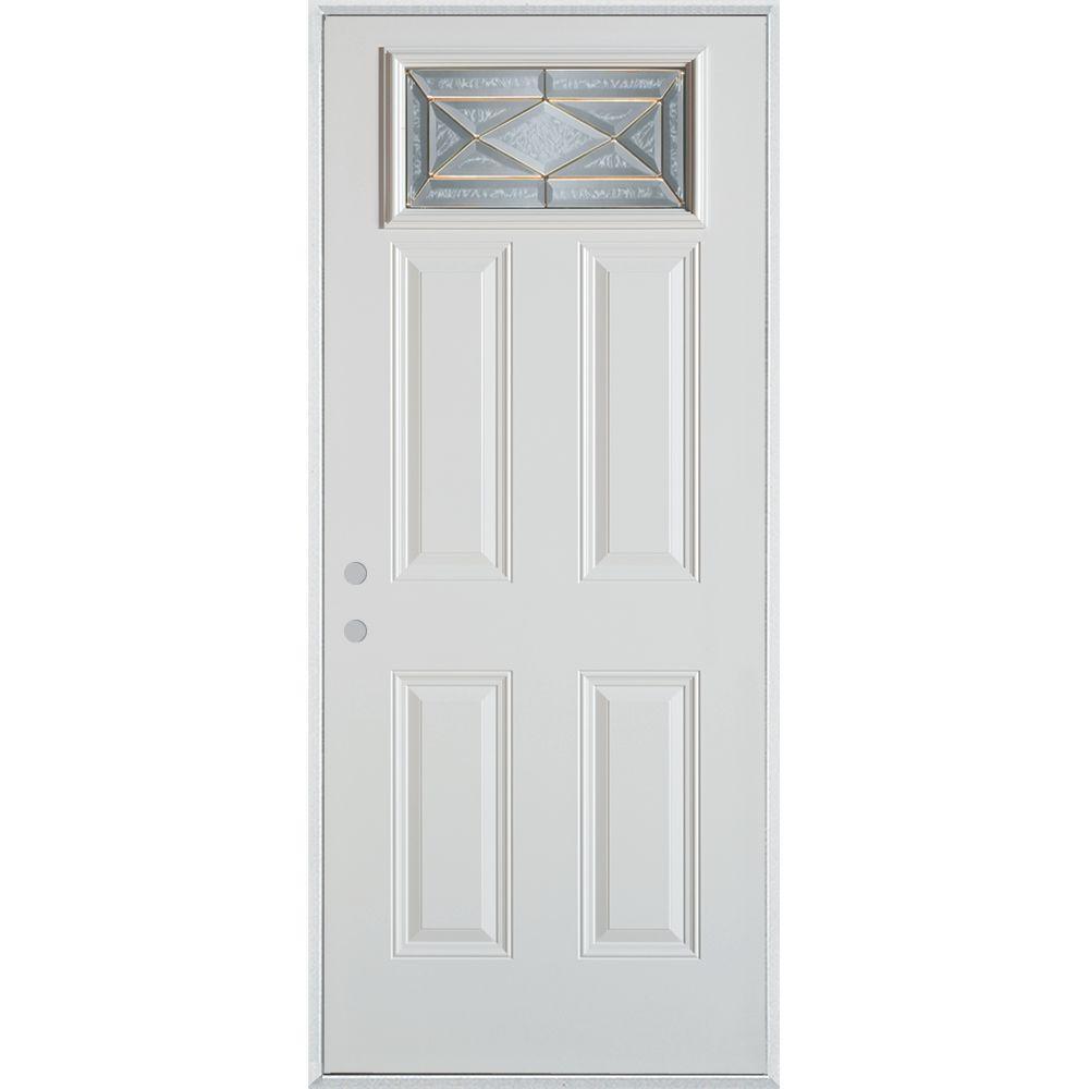 Stanley Doors 32 in. x 80 in. Art Deco Rectangular Mini Lite 2-  sc 1 st  The Home Depot & Stanley Doors 32 in. x 80 in. Art Deco Rectangular Mini Lite 2 ... pezcame.com