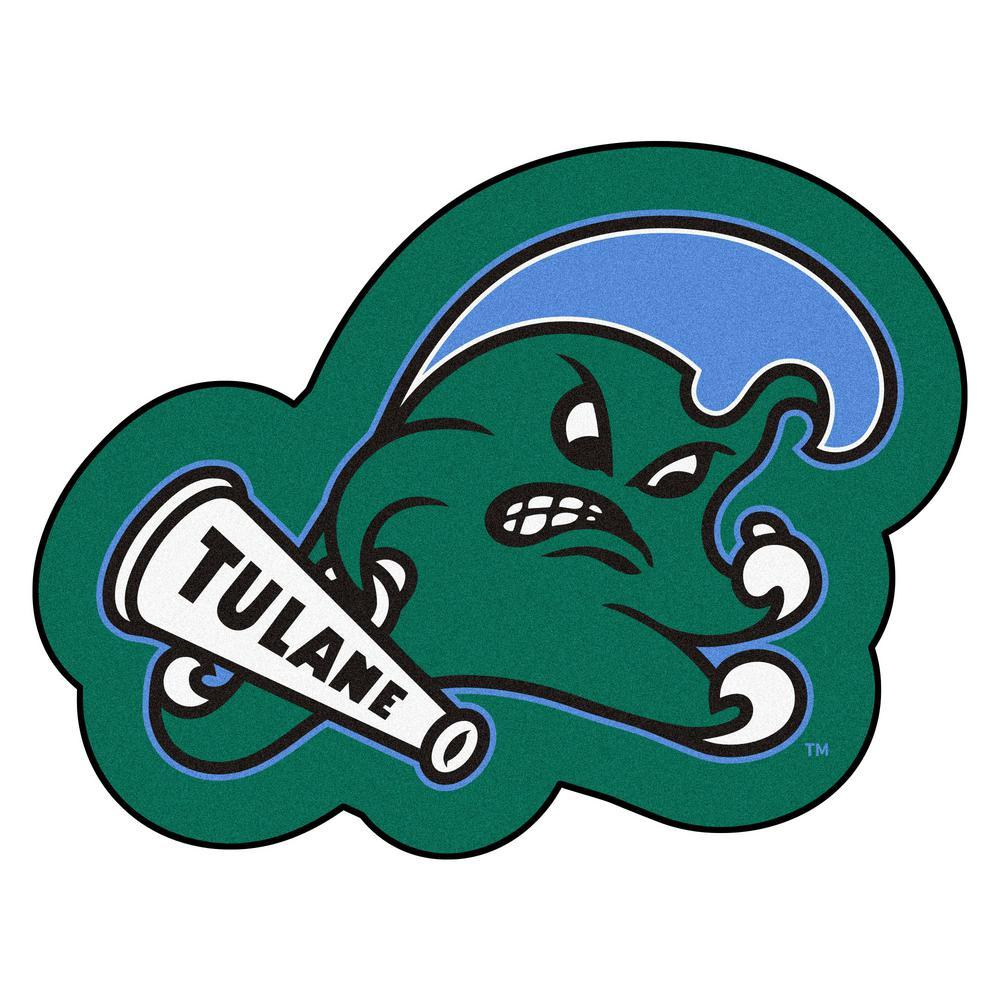 c799c08449b18 FANMATS NCAA - Tulane University Mascot Mat 30 in. x 30.4 in. Indoor Area  Rug