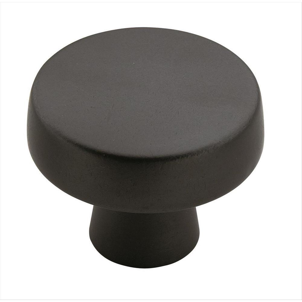 Blackrock 1-5/8 in (44 mm) Diameter Black Bronze Cabinet Knob