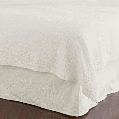 Putnam Matelasse Ivory Full Bed Skirt