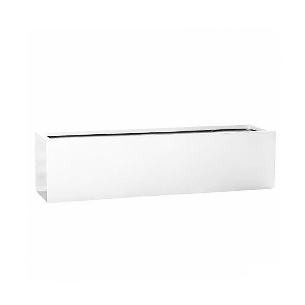 Shiny White Fiberstone Large Rectangle
