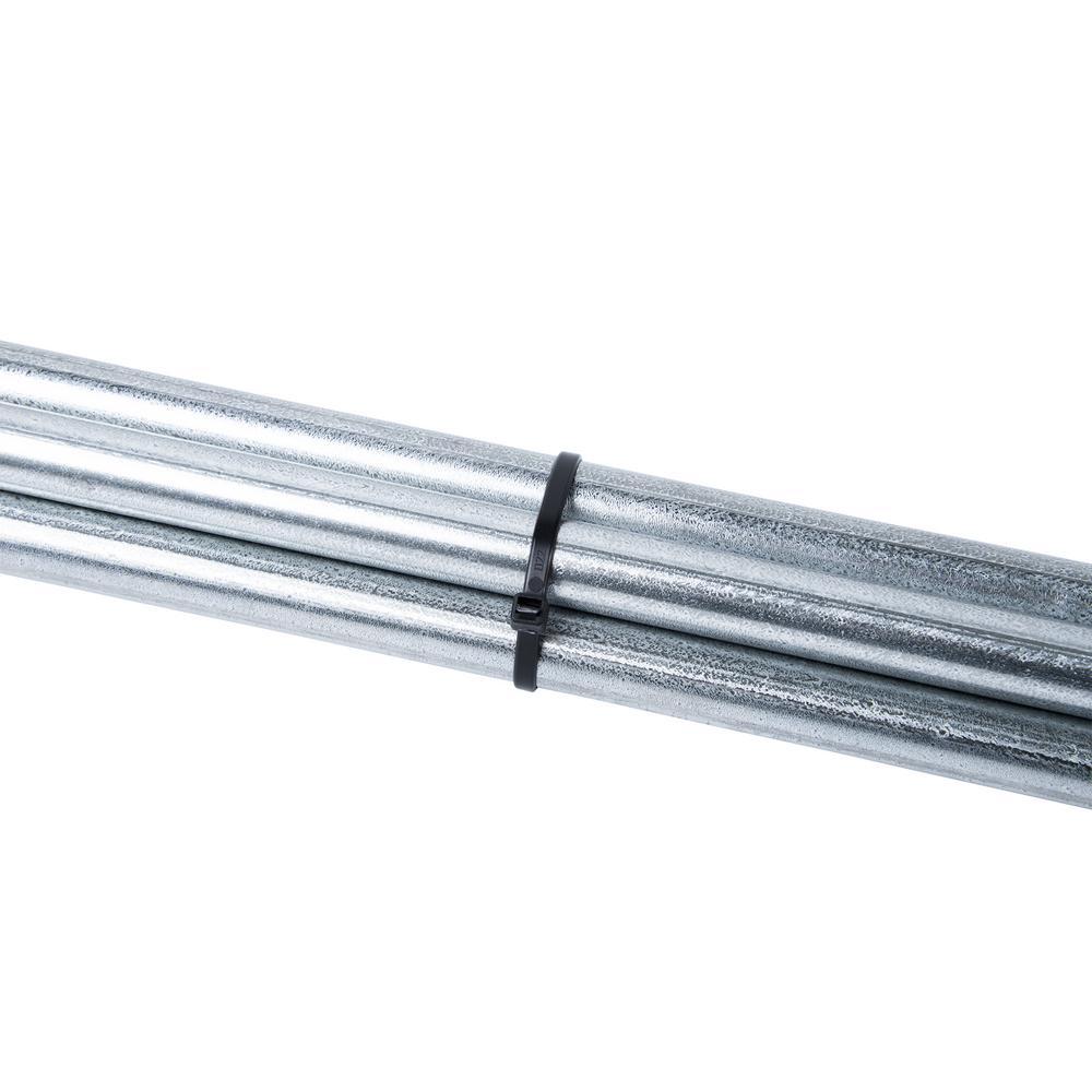 Gardner Bender  8 in L Black  Cable Tie  100 pk