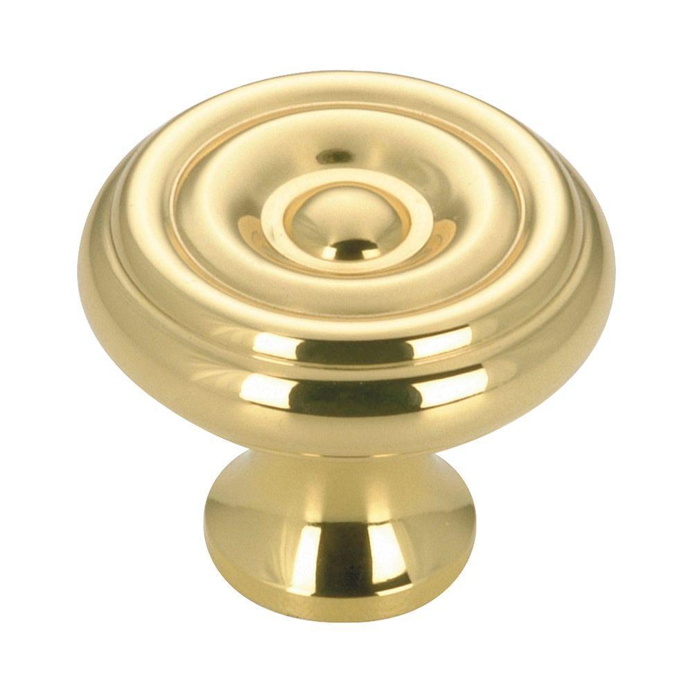 Richelieu Hardware 1-1/4 in. Brass Cabinet Knob