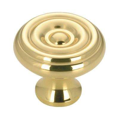 1-1/4 in. Brass Cabinet Knob