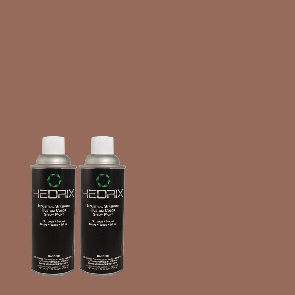 Hedrix 11 oz. Match of 130F-6 Brazil Nut Gloss Custom Spray Paint (2-Pack)
