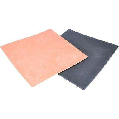 6 in. x 6 in. x 1/16 in. Thick Rubber Packing Sheet (2-Pack)