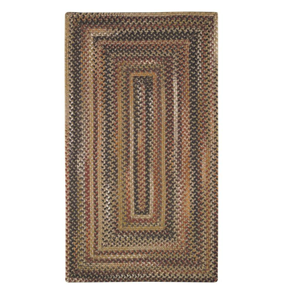 Capel Applause Concentric Chestnut 4 ft. x 6 ft. Area Rug