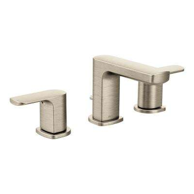 Rizon 8 in. Widespread 2-Handle Bathroom Faucet in Brushed Nickel (Valve Not Included)