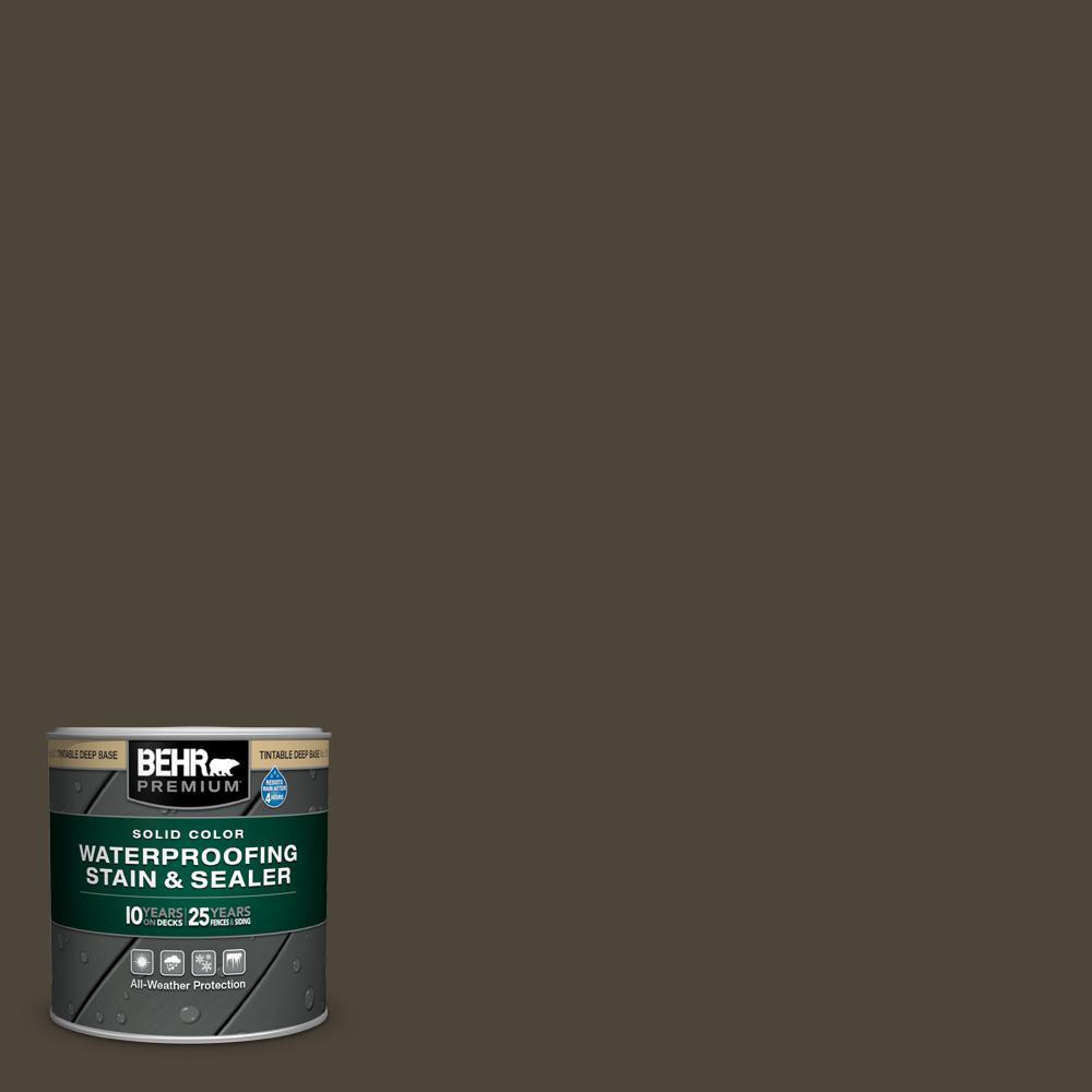 BEHR Premium 8 oz. #SC-104 Cordovan Brown Solid Color Waterproofing Exterior Wood Stain and Sealer Sample