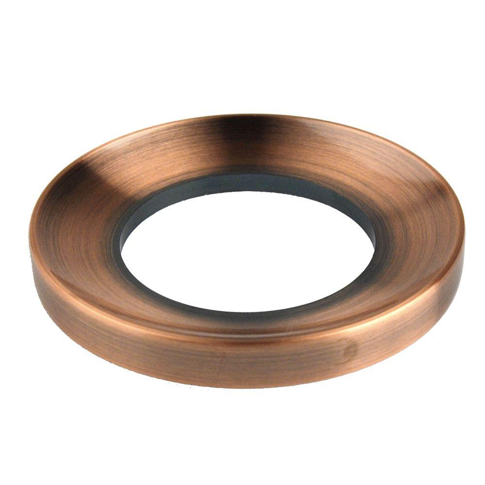 Fontaine Glass Vessel Bathroom Sink Mounting Ring in Antique Copper-DISCONTINUED