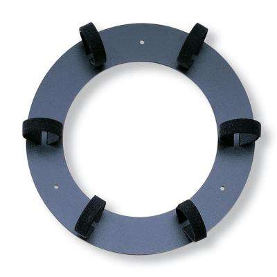 11.75 in. Dia Recloseable Storage Ring, Black
