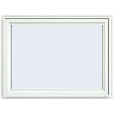 47.5 in. x 35.5 in. V-4500 Series White Vinyl Awning Window with Fiberglass Mesh Screen
