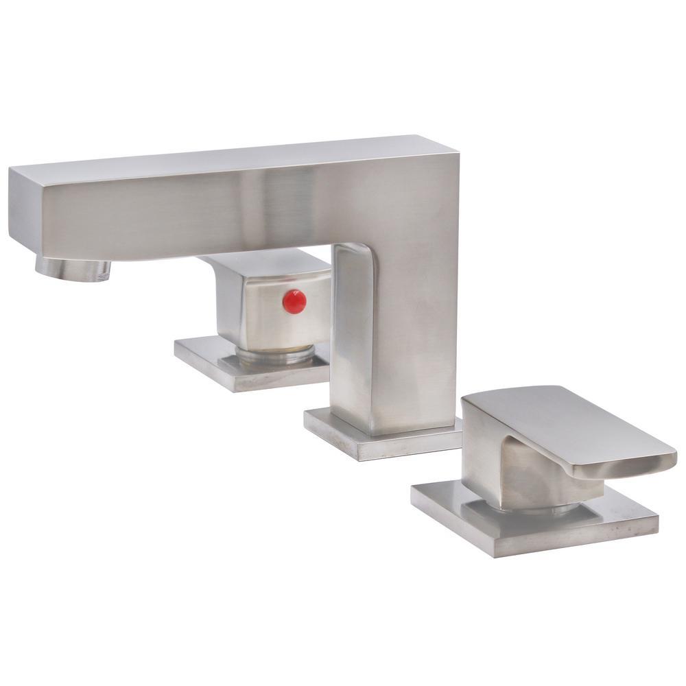 JAX Standard 8 in. Widespread 2-Handle Quarter Turn Bathroom Faucet in Brushed Nickel