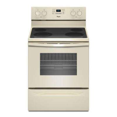 5.3 cu. ft. Electric Range with Self-Cleaning Oven in Biscuit with SteamClean Option