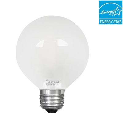 60W Equivalent Daylight (5000K) G25 Dimmable Filament LED Frosted Glass Light Bulb