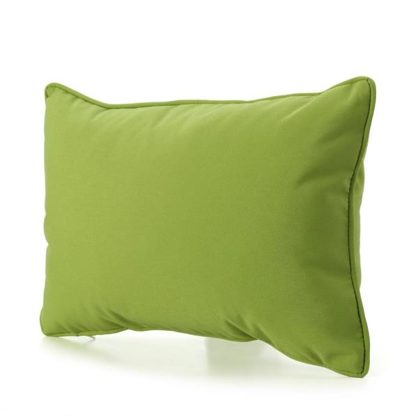 Amaris Green Outdoor Lumbar Throw Pillow