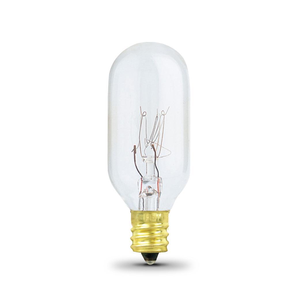 40-Watt Soft White (2700K) T8 Candelabra E17 Base Dimmable Incandescent Appliance Light Bulb