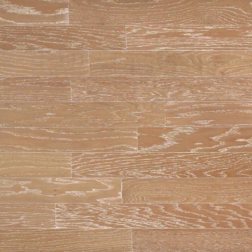 Heritage Mill Take Home Sample - Brushed Oak Biscotti Engineered Click Hardwood Flooring - 5 in. x 7 in.
