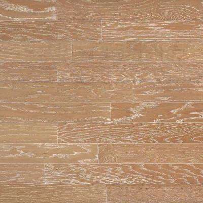 Brushed Oak Biscotti Engineered Click Hardwood Flooring  5 in x 7 Take Light Distressed Rustic Wood Samples