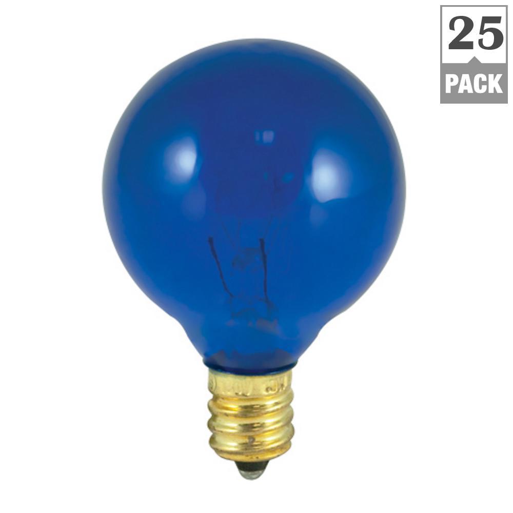 10-Watt G12 Transparent Blue Dimmable Incandescent Light Bulb (25-Pack)