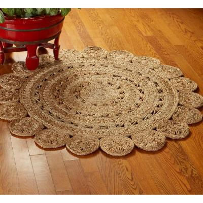 Natural Jute Natural Round 4 ft. x 4 ft. Indoor Area Rug