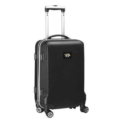NHL Nashville Predators 21 in. Black Carry-On Hardcase Spinner Suitcase