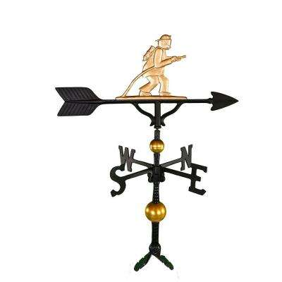 32 in. Deluxe Gold Fireman Weathervane