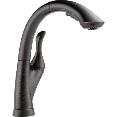 Linden Single-Handle Pull-Out Sprayer Kitchen Faucet With Multi-Flow And High Arc Waterfall Spout In Venetian Bronze