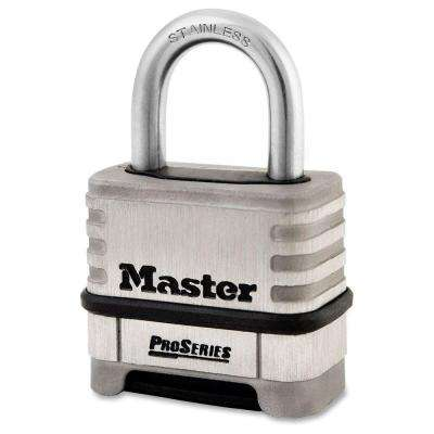 ProSeries 2.2 in. Stainless Steel Combination Padlock with 1.06 in. Shackle