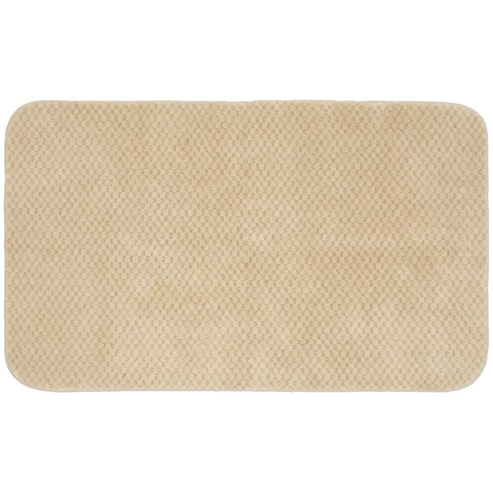 Organic Cotton Belgium Linen Bath Rug: Garland Rug Cabernet Linen 30 In. X 50 In. Washable