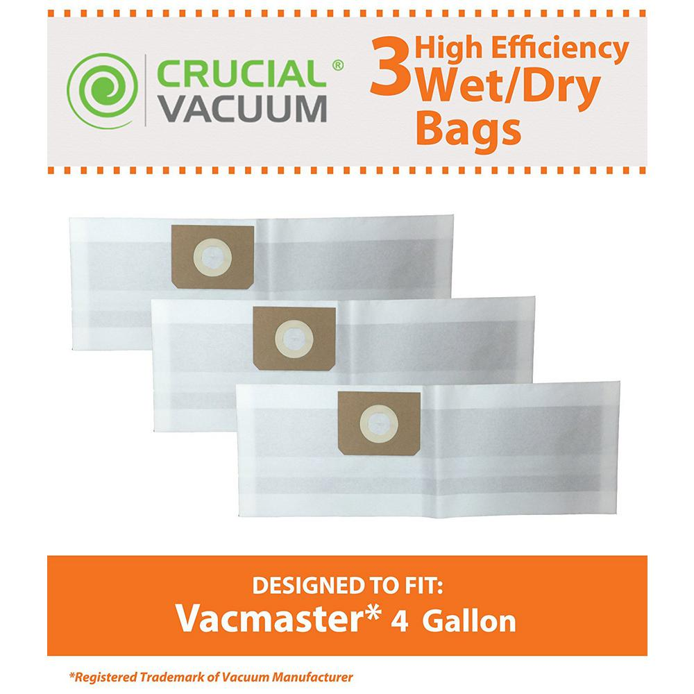 Think Crucial Replacement Bags Fits Vacmaster Vf408 Wet And Dry Vacs 4 Gal
