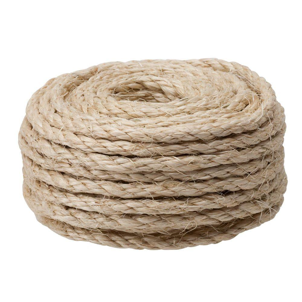 3/8 in. x 50 ft. Natural Twisted Sisal Rope