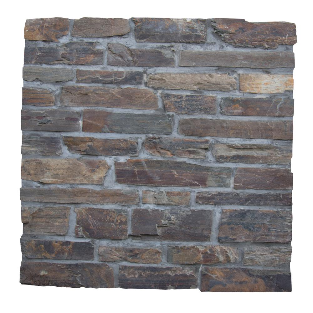 Exterior Wall - Slate Tile - Natural Stone Tile - The Home Depot