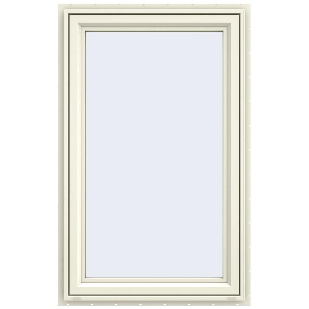 JELD-WEN 29.5 in. x 47.5 in. V-4500 Series Right-Hand Casement Vinyl Window - Yellow