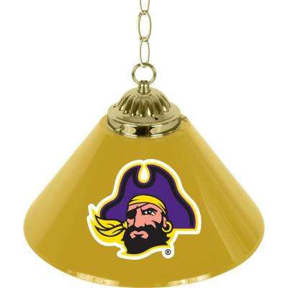 East Carolina University 14 in. Single Shade Stainless Steel Hanging Lamp