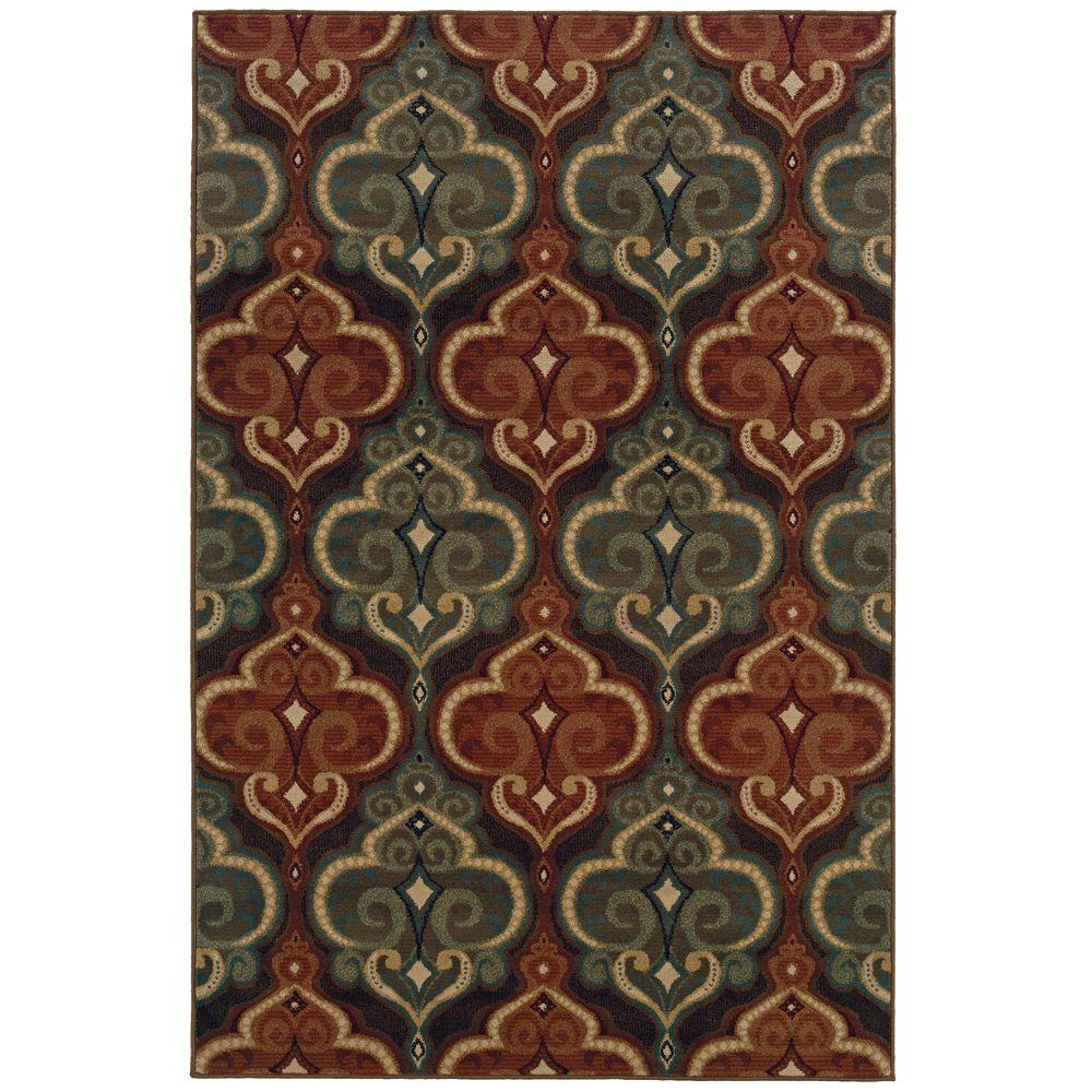 Oriental Weavers Camille Dalles Multi 3 ft. 2 in. x 5 ft. 5 in. Area Rug