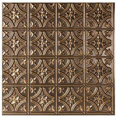 Valencia 2 ft. x 2 ft. Lay-in or Glue-up Ceiling Tile in Antique Gold (48 sq. ft. / case)