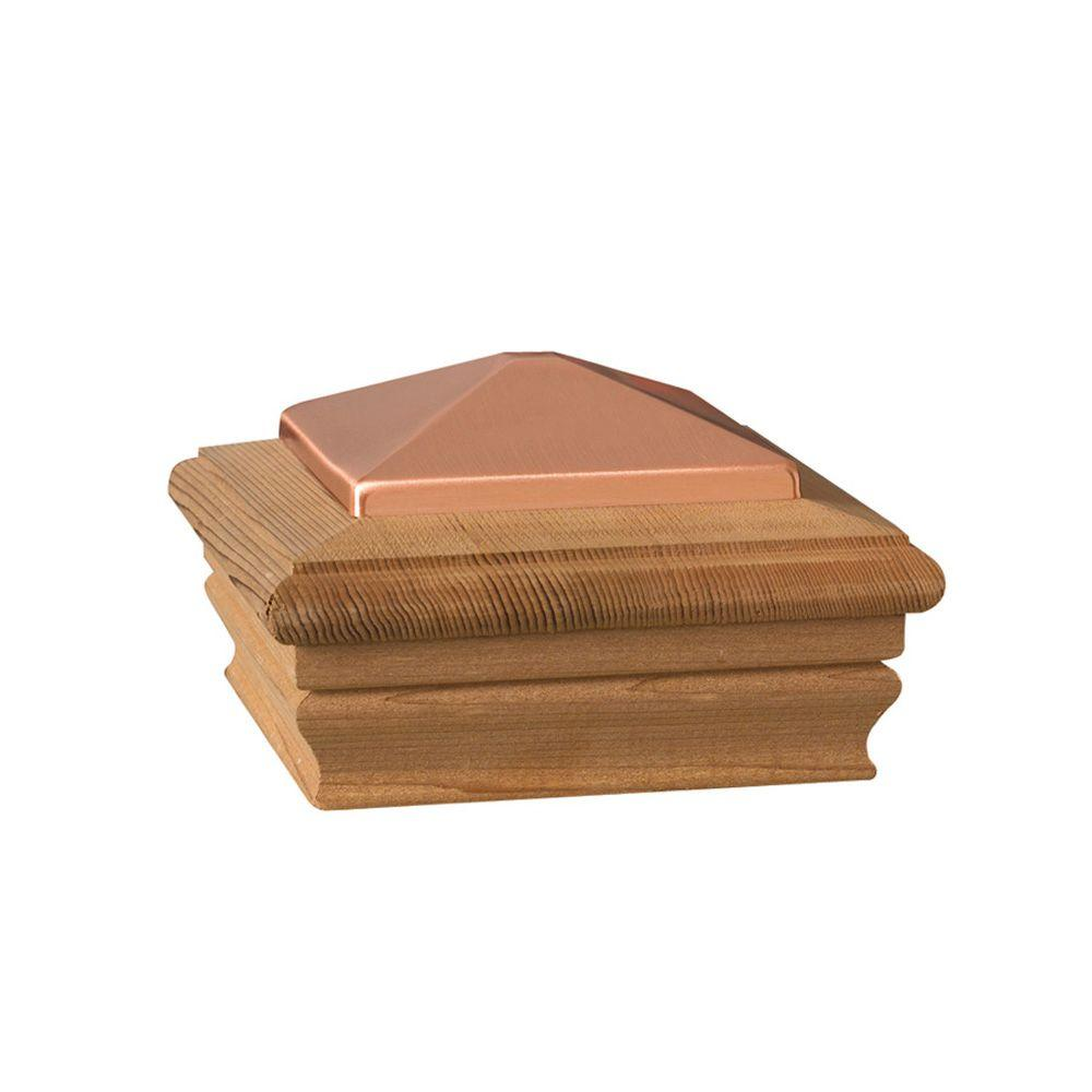 DeckoRail 4 in. x 4 in. Wood Copper High Top Post Cap