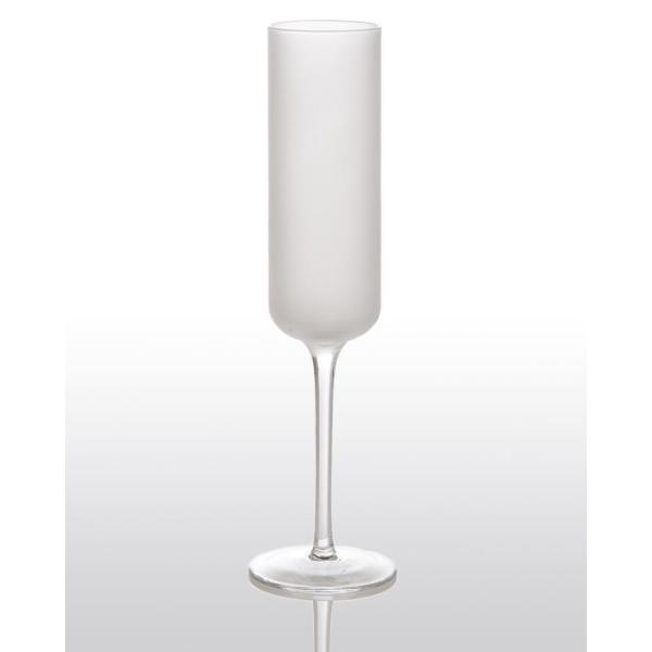 White Night Frosted Champagne Glass