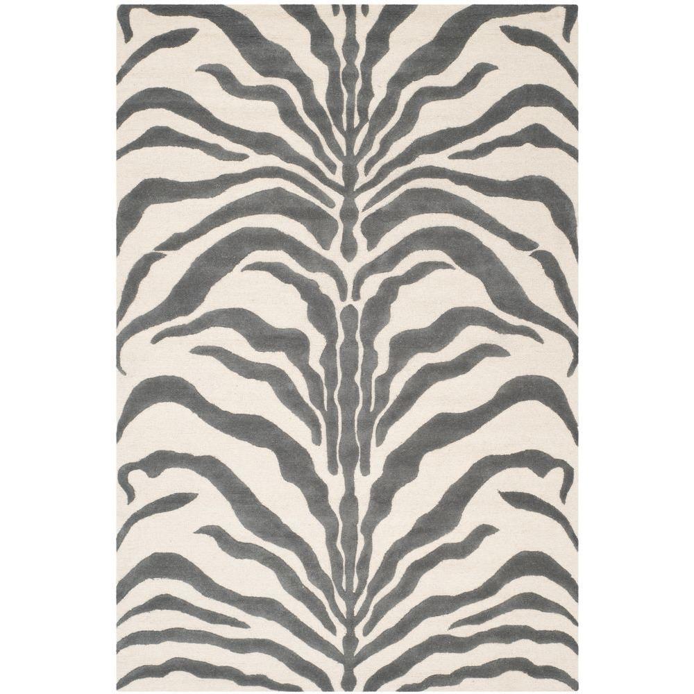 Cambridge Ivory/Dark Gray 5 ft. x 8 ft. Area Rug