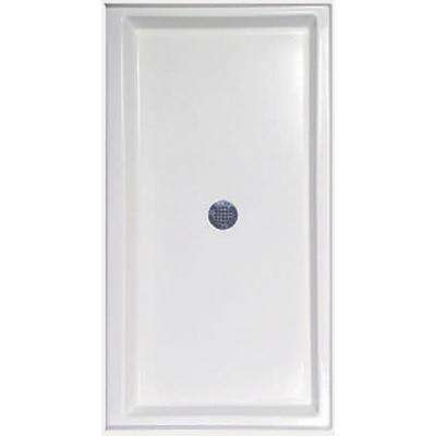 34 in. x 60 in. Single Threshold Shower Base in White